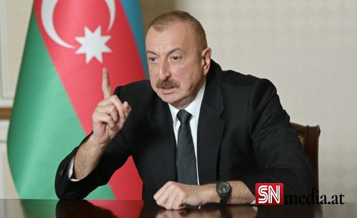 Azerbaycan Cumhurbaşkanı Aliyev Ermenistan'ı uyardı ve Türkiye ile kara bağlantısını sağlayacak yol hakkında konuştu