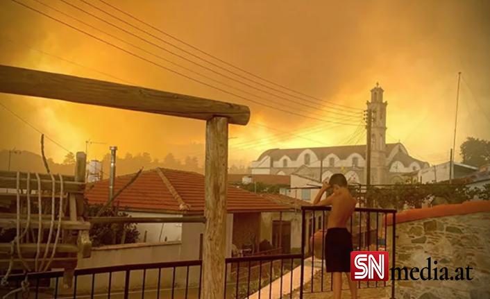 Güney Kıbrıs'ta 1974 sonrasının en büyük yangını: Ölü sayısı 4'e çıktı, köylüler ormanlara ağlıyor