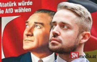 Almanya'da skandal Atatürk afişine tepki yağıyor