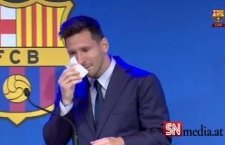 Barcelona'ya göz yaşları içinde veda eden...