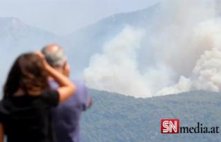 Türkiye'deki orman yangınlarıyla mücadelede...