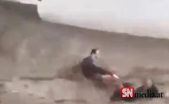 Salzburg'da sele kapılan Türk çiftini, Avusturyalı komşu kurtardı