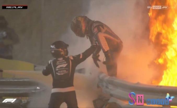 Formula 1'de korkunç kaza! Alevlerin içinden çıktı